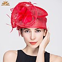 cheap Party Headpieces-Flax / Feather Fascinators with 1 Wedding / Special Occasion / Casual Headpiece