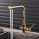 billige Køkkenhaner-Køkken Vandhane - Art Deco / Retro Ti-PVD Standard Tud Basin