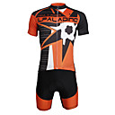 cheap Wall Stickers-ILPALADINO Men's Short Sleeve Cycling Jersey with Shorts - Black Skull Bike Clothing Suit, 3D Pad, Quick Dry, Ultraviolet Resistant, Reflective Strips Lycra Fashion / Stretchy