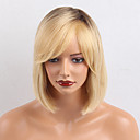 cheap Bed Pillows-Human Hair Capless Wigs Human Hair Straight / Classic Machine Made Wig Daily