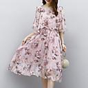 baratos Vestidos para Meninas-Mulheres Trabalho Boho Reto Vestido Xadrez Altura dos Joelhos
