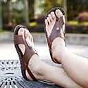 halpa Miesten sandaalit-Miesten Comfort-kengät PU Kevät / Kesä Sandaalit Ruskea / Sininen / Khaki / Koristehelmillä / Kausaliteetti / EU40