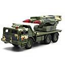 baratos Caminhões de brinquedo e veículos de construção-Veículo Militar Caminhão de mísseis Caminhões & Veículos de Construção Civil Carros de Brinquedo Modelo de Automóvel Música e luz Crianças Unisexo Para Meninos Para Meninas Brinquedos Dom