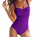 cheap Women's Swimwear & Bikinis-Women's Plus Size Strap One-piece - Solid Colored Basic Briefs