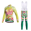 cheap Bells & Locks & Mirrors-Miloto Women's Cycling Jersey with Bib Tights - Yellow Bike Clothing Suits Polyester Lycra