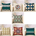 cheap Pillow Covers-7 pcs Cotton / Linen Pillow Cover / Pillow Case, Novelty / Classic / Fashion Vintage / Casual / Retro