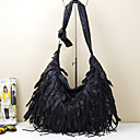 cheap Synthetic Lace Wigs-Women's Bags Cowhide Tassel for Casual Black