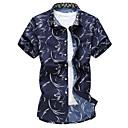 abordables Pendientes-Hombre Tallas Grandes Estampado Camisa Delgado Multicolor / Manga Corta