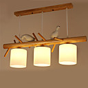 cheap Vanity Lights-3-Light Pendant Light Ambient Light Painted Finishes Wood / Bamboo Glass 110-120V / 220-240V Bulb Not Included