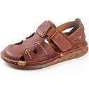 رخيصةأون أحذية رياضية رجالي-للرجال Leather نابا ربيع / صيف صنادل أحذية متماشية أسود / بني فاتح