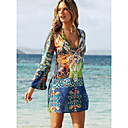 cheap Accessories For GoPro-Women's Holiday / Beach Boho Sheath Dress - Graphic Print Mini Deep V / Summer