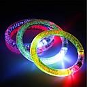 halpa Koristevalot-3 kpl sytyttää rannekoru flash led-valoa lähettävä sähköinen rannekoru valoisa hehkuva ranneke joulupalkkiin