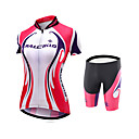 cheap Cycling Jersey & Shorts / Pants Sets-Malciklo Women's Cycling Jersey with Shorts Plus Size Bike Jersey / Tights / Padded Shorts / Chamois Coolmax®, Lycra Patchwork / Quick Dry / Anatomic Design / High Elasticity / SBS Zipper