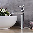 preiswerte Dekorative Kissen-Waschbecken Wasserhahn - Wasserfall Verbreitete Chrom Mittellage Einhand Ein Loch
