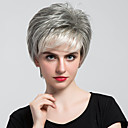 cheap Human Hair Capless Wigs-Human Hair Capless Wigs Human Hair Natural Wave Bob Haircut With Bangs Side Part Short Machine Made Wig Women's
