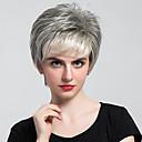 baratos Leques e Sombrinhas-Perucas de cabelo capless do cabelo humano Cabelo Humano Ondulado Natural Corte Bob Com Franjas Parte lateral Curto Fabrico à Máquina