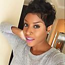 cheap Human Hair Capless Wigs-refreshing natural wavy black short hair human hair wigs for woman