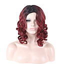 cheap Synthetic Capless Wigs-Synthetic Wig Curly / Loose Wave / Water Wave Layered Haircut Synthetic Hair Ombre Hair / Natural Hairline / African American Wig Red Wig Women's Medium Length / Long Capless