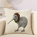 cheap Pillow Covers-1 pcs Cotton / Linen Pillow Cover / Pillow Case, Animal / Quotes & Sayings Vintage / Casual / Retro