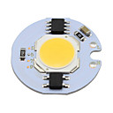 billige Andre Deler-1pc 5w cob led chip 220v smart ic for diy downlight spot light taklampe varm / kjølig hvit