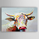 cheap Animal Paintings-Oil Painting Hand Painted - Animals Contemporary Artistic Style Canvas