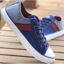 זול סניקרס לגברים-בגדי ריקוד גברים קנבס אביב נוחות נעלי ספורט אדום / כחול / חאקי