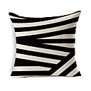 cheap Night Lights-1 pcs Cotton / Linen Pillow Cover / Pillow Case, Geometric Pattern / Novelty / Fashion Geometric / Vintage / Casual