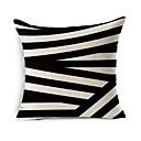 cheap Pillow Covers-1 pcs Cotton / Linen Pillow Cover / Pillow Case, Geometric Pattern / Novelty / Fashion Geometric / Vintage / Casual