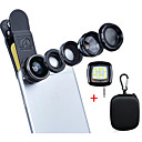 cheap Smartphone Camera Lenses-Apexel Deluxe Universal 5 in 1 Camera Lens Kit for iPhone 7 6/6s 6Plus/6s Plus Samsung Galaxy S7/S7 EdgeS6/S6 Edge Note 5 4-Fisheye Lens