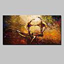 זול ציורים מופשטים-ציור שמן צבוע-Hang מצויר ביד - מופשט סגנון ארופאי מודרני בַּד