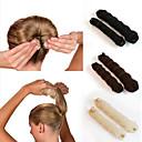cheap Human Hair Capless Wigs-2Pcs Magic Style Hair Styling Tools Buns Braiders Curling Headwear Hair Rope Hair Band Accessories