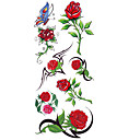 cheap Temporary Tattoos-1 pcs Tattoo Stickers Temporary Tattoos Flower Series Waterproof Body Arts Hand / Arm / Wrist