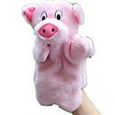 baratos Marionetes-Fantoches de dedo Fantoches Porco Fofinho Animais Adorável Tactel Felpudo Crianças Para Meninas Brinquedos Dom