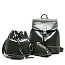 cheap Bag Sets-Women's Bags PU(Polyurethane) Backpack 3 Pcs Purse Set Zipper Green / Black / Red