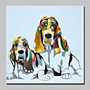 povoljno Slike sa životinjskim motivima-Hang oslikana uljanim bojama Ručno oslikana - Životinje Sažetak Suvremena suvremena Uključi Unutarnji okvir / Prošireni platno