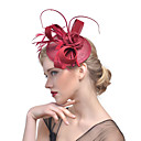 cheap Party Headpieces-Tulle Fascinators with Feather 1 Event / Party Headpiece