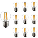 cheap LED Filament Bulbs-10pcs 4W 360lm E26 / E27 LED Filament Bulbs G45 4 LED Beads COB Dimmable Decorative Warm White 220-240V
