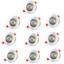 baratos Luzes LED de Encaixe-3W 1 LEDs Branco Quente Branco Frio AC85-265