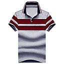 cheap Fidget Spinners-Men's Cotton Polo - Striped Classic Shirt Collar / Short Sleeve