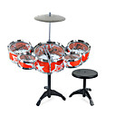 cheap Toy Instruments-Drum Set Construction Tool Drum Set Jazz Drum Simulation Plastics Material Unisex Gift