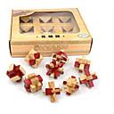 זול פאזלים מעץ-אבני בניין פאזלים מעץ אתגרי חשיבה IQ קונג מינג Lock צעצועים מבחן איקיו עץ יוניסקס חתיכות