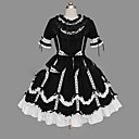 cheap Party Headpieces-Princess Gothic Lolita Dress Punk Women's Girls' Dress Cosplay Black Ball Gown Cap Sleeve Short Sleeve Short / Mini Plus Size Customized Costumes