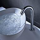 billige Kostumeparyk-Håndvasken vandhane - Touch / ikke-touch Krom Centersat Enkelt håndtag Et Hul