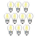 baratos Luzes Traseiras para Carros-BRELONG® 10pçs 4W 300lm E27 Lâmpadas de Filamento de LED G45 4 Contas LED COB Regulável Branco Quente Branco 200-240V