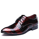 cheap Men's Oxfords-Men's Formal Shoes Leather Spring / Fall British Oxfords Walking Shoes Black / Red / Blue / Wedding / Party & Evening / Split Joint / Party & Evening / Printed Oxfords