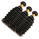 voordelige Ombrekleurige haarweaves-Indiaas haar Klassiek / Diepe Golf Menselijk haar weeft 3 bundels 10-20 inch(es) Menselijk haar weeft Zwart Extensions van echt haar