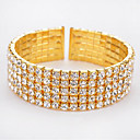 cheap Bracelets-Women's Hollow Tennis Bracelet Wide Bangle - Rhinestone Fashion Bracelet Gold / Silver For Christmas Gifts Birthday Gift