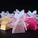 cheap Favor Holders-Others Pearl Paper Favor Holder with Ribbons Favor Boxes - 50