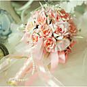 """baratos Bouquets de Noiva-Bouquets de Noiva Buquês Casamento Organza Cetim 9.84""""(Aprox.25cm)"""