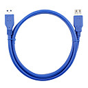 cheap USB Cables-USB 3.0 Extension Cable, USB 3.0 to USB 3.0 Extension Cable Male - Female 0.6m(2Ft)
